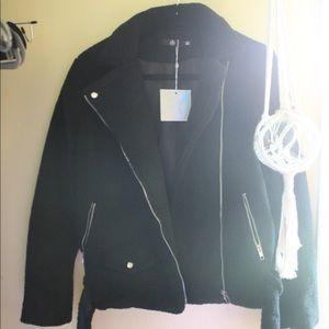 NWT black Sherpa jacket